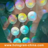 Folheto de impressão de holograma a laser de segurança transparente