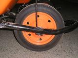 Orlo di gomma solido dell'acciaio della rotella 3.00-8 della polvere per il carrello