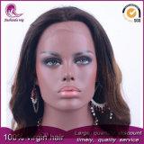 Ombre Cabello ondulado de color de cabello virgen India peluca de encaje completo