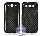 Cassa reale del telefono mobile della fibra del carbonio di alta qualità per la galassia S3 di Samsung
