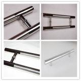 Il doppio ha parteggiato maniglia di portello di vetro di scivolamento della maniglia di portello dell'acciaio inossidabile