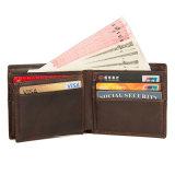2018 новый дизайн оптовые цены коричневый верхний слой кожи кредитные карты Wallet