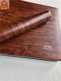 Film PVC lisse décoratif pour plaque de métal en plastique en bois