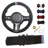 La couture en cuir de couture voiture personnalisée couvre volant pour BMW F22 F23 F45 F46 F30 F31 F34 F35 F32 F33 F36 X3 X4 X5 X6 M3 M2 M4 M5 M6 M Sport 325J 330J