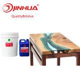 Moulage de cristal de la résine époxy pour table en bois