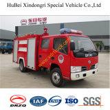 doppio camion dei vigili del fuoco Euro3 dell'acqua di righe di 4ton Dongfeng Duolika