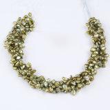 """Perla de Keshi del color verde en """" venta al por mayor del hilo 16"""