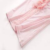 Camisa feminina de algodão com algodão orgânico T-shirt rosa das senhoras