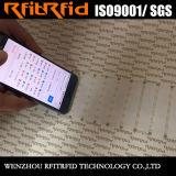 Kundenspezifischer Besetzer-Beweis Ntag 213/215 NFC Marke für androides Telefon