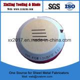 Нажмите кнопку для пробивания отверстий верхней опоры приспособления