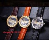 Knap Modieus Automatisch Horloge met de Echte Riem van het Leer voor Mensen Fs504