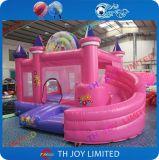 Het roze Kasteel van de Sprong/het Springen Huis voor Partij