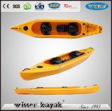 2 + 1 Asientos de la familia de plástico LLDPE / HDPE Touring Recreación Kayak