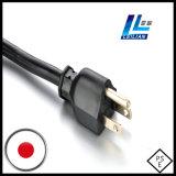 cabo de potência padrão de 3-Pin PSE do aparelho electrodoméstico