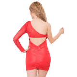 New Arrivals Wholesale Poplar Leather Backless Dresses