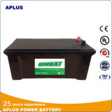 Baterias padrão N150 12V 150ah de JIS Mf para Ámérica do Sul