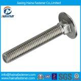 Fornitore DIN603 A307 4.8 della Cina 8.8 bullone di carrello quadrato capo rotondo del collo dell'acciaio inossidabile 304 del bullone di carrello del grado 316