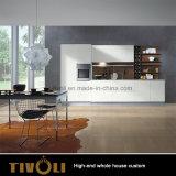 Governo bianco Tivo-079VW della stanza di lavanderia della lacca di lucentezza della cucina della mobilia residenziale della Camera piena