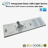 Bluetooth & luz de rua solar completa do diodo emissor de luz do APP 90-120W