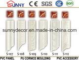 Moulage matériel de corniche de décoration de plafond de mur d'unité centrale de qualité de polyuréthane beau