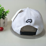Schwarze/weiße Baumwollhysteresen-Schutzkappe der Stickerei-3D