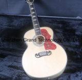 Haut solide flammé J200j 43''jumbo 12 Cordes de guitare acoustique électrique