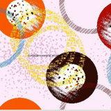 100%Polyester de Afgedrukte Stof van de Cirkel van de stichting Pigment&Disperse voor de Reeks van het Beddegoed