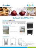 Forme de balle de la glace commerciale Making Machine