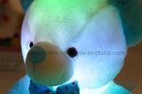 신식 LED 유도적인 장난감 곰 박제 동물 견면 벨벳 장난감 아이를 위한 다채로운 빛나는 장난감 곰 크리스마스 선물