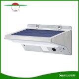 Bewegungs-Fühler-Wand-Licht der energiesparender Edelstahl-wasserdichtes Garten-Lampen-21 LED der Sonnenenergie-PIR im Freien