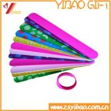 Braccialetto di schiaffo del silicone/Wristband di vendita caldi di schiaffo