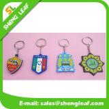 Borracha azul 2D/3D Rubbier Keychains do jogador de futebol