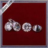 공장 직매 둥근 화려한 커트 반지 보석을%s 백색 색깔 Moissanite 다이아몬드