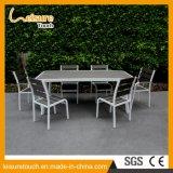 Conjunto de aluminio aplicado con brocha muebles del vector de la silla del restaurante del comedor del café de Polywood del jardín del patio de China B&R