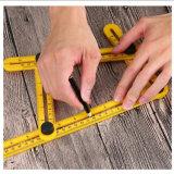 Складные пластиковые метрическая система единиц измерения угла желтый многофункциональная складная линейки