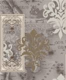 2017 Nouveau luxe Home Decor Papier peint en vinyle avec motif floral