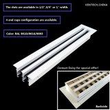 Retorno de la pared lateral de aluminio ventilación difusor de la ranura lineal