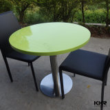Tour de taille personnalisée de la pierre artificielle haute brillance Table à manger (T1711209)
