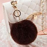 Catena chiave della sfera della pelliccia del coniglio esportatrice ad universalmente