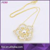 Fabricante fino plateado oro al por mayor China de Foxi de la joyería del collar de la perla del Zirconia