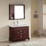 Vanité de salle de bains de Floorstanding en bois solide de double bassin