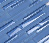Mosaik-Fliese der Fabrik-Zubehör-Kristallglas-Swimmingpool-blaue Farben-12X12
