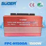 Suoer 1500W Gleichstrom 12V zu Wechselstrom 230V weg Rasterfeld-vom reinen Sinus-Wellen-Sonnenenergie-Inverter (FPC-H1500A)