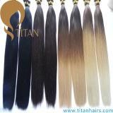 Il colore di Ombre pre ha legato l'estensione dei capelli di punta della cheratina U
