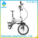 Bicicleta dobrada cidade do escudo de sela do couro de imitação de 12 polegadas