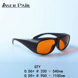 De veiligheidsbrillen Gty van het Oog van de Beschermende brillen van de Veiligheid van de laser 200532nm&9001700nm Bril van de Veiligheid van de Laser