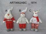 """18 """"H Decoración casera de pie Floopy Christmas-3asst"""