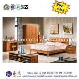 Meubles en bois modernes de chambre à coucher de bâti en cuir grand (SH-017#)