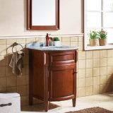 Vanità di piccola dimensione del Governo di stanza da bagno di legno solido e dispersori (GSP14-045)