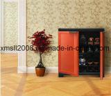 Estante de madera del zapato de la cabina del zapato para la decoración casera